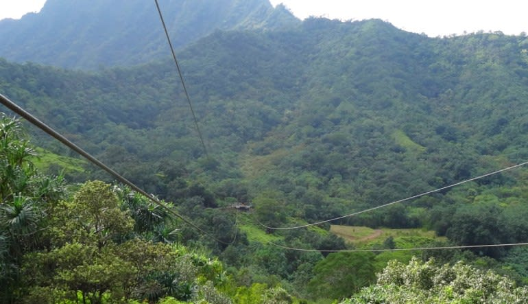 Zipline Oahu Kualoa Ranch Views
