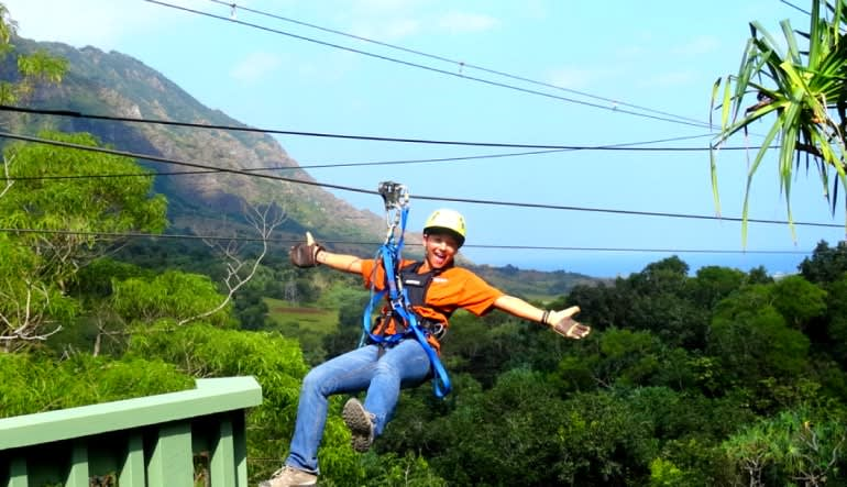 Zipline Oahu Kualoa Ranch Star