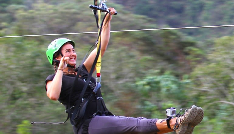 Zipline Oahu Kualoa Ranch Lady