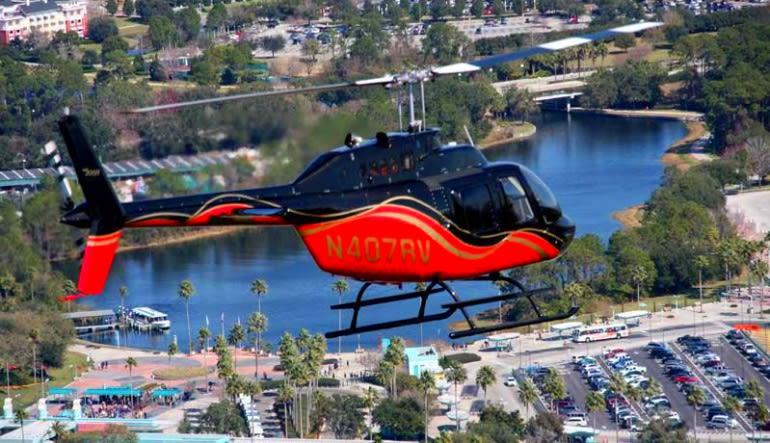 Helicopter Ride Kissimmee, Theme Parks Red & Black