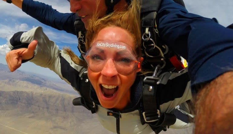Skydive Sin City Las Vegas Lady