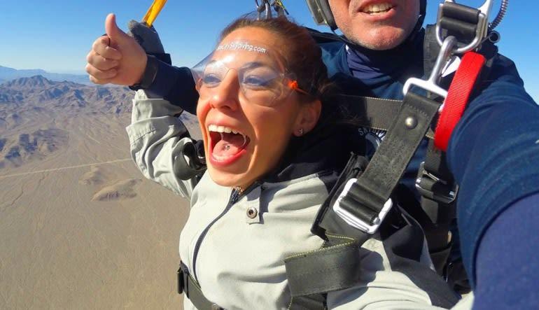 Skydive Sin City Las Vegas Screaming