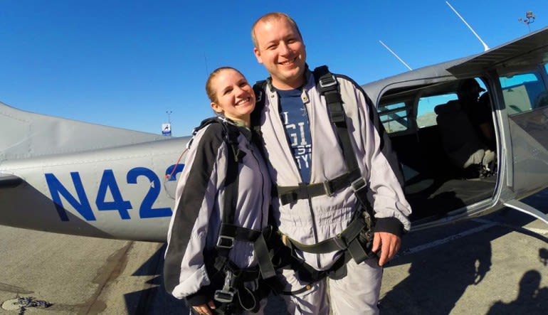 Skydive Sin City Las Vegas Going Up