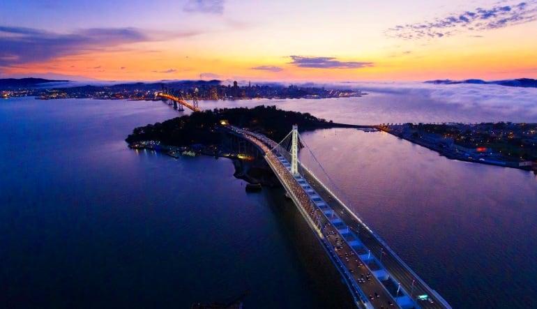 Scenic Night Flight San Francisco