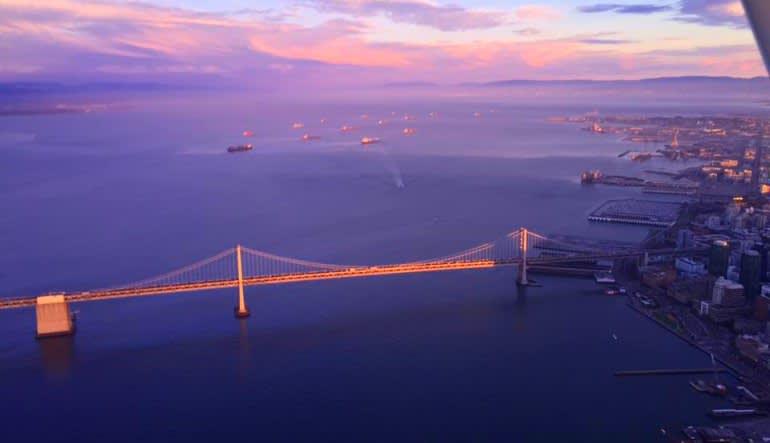 Scenic Night Flight San Francisco Golden Gate