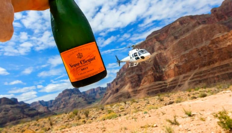Helicopter Tour Grand Canyon, Floor Landing and Champagne
