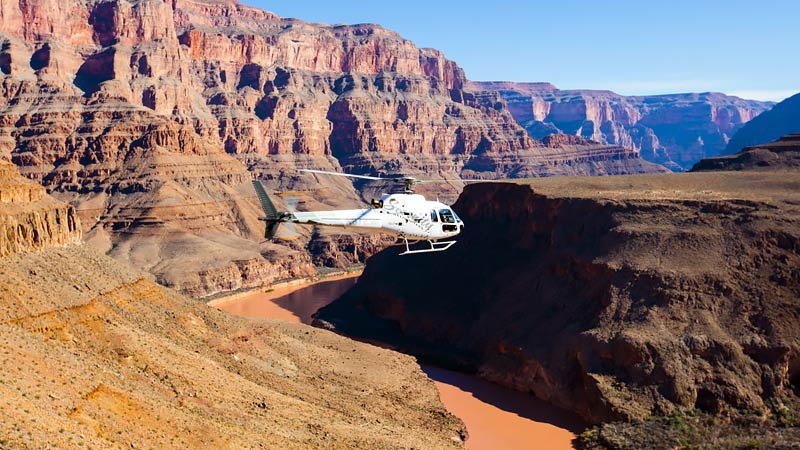 Helicopter Tour Grand Canyon, Floor Landing