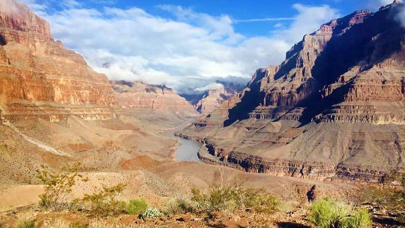 Helicopter Tour Grand Canyon, Floor Landing Landscape