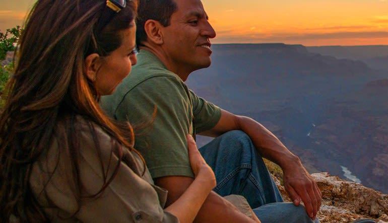 Sunset Jeep Tour Grand Canyon South Rim, Grand Entrance Tour Couple