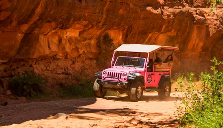 Jeep Tour Sedona, Broken Arrow and Scenic Rim Tour Action