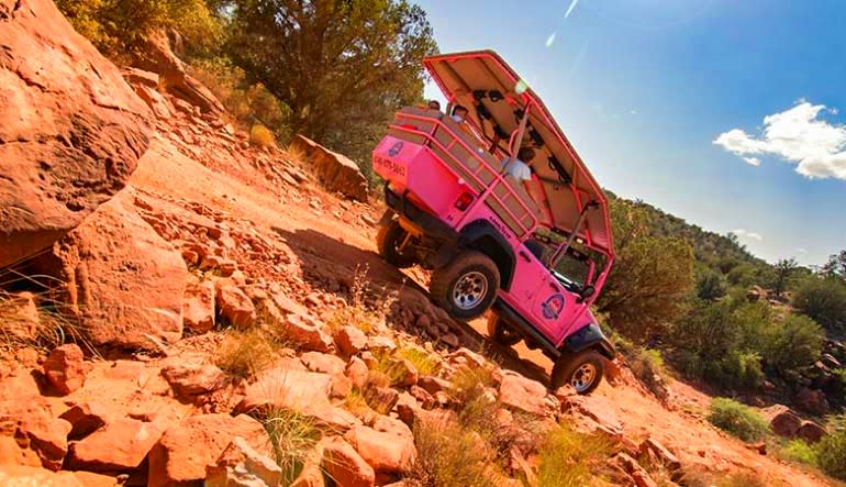 Jeep Tour Sedona, Diamondback Gulch Tour Decline