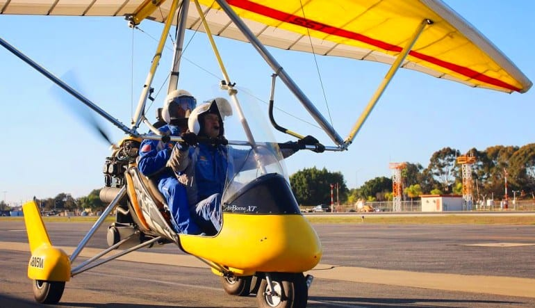 Trike Discovery Flight, Los Angeles Landing