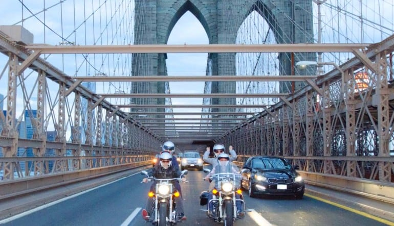 Motorcycle Tour New York City On The Bridge
