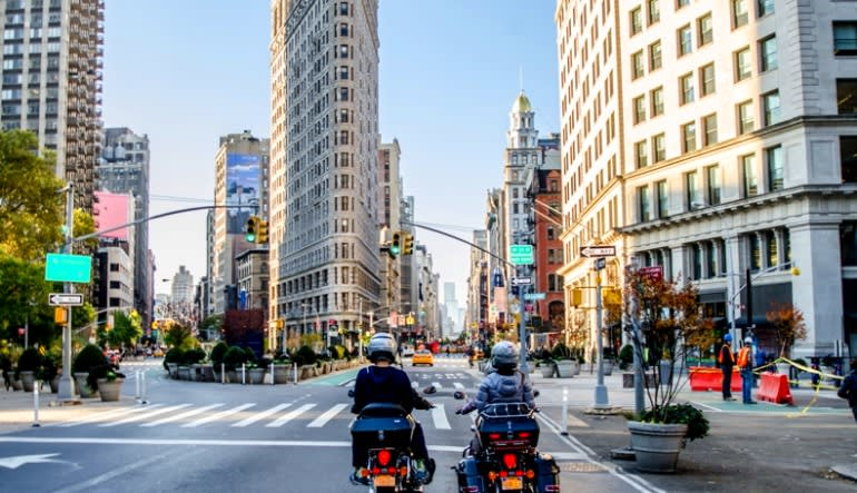Motorcycle Tour New York City, Downtown Main Roads