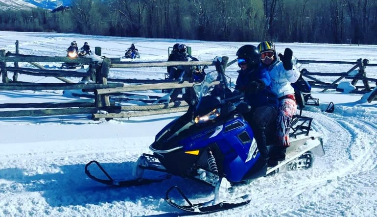 Snowmobile Tour for 2 on Private Trails Take Off