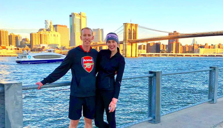 New York City Running Tour, Hudson River Couple
