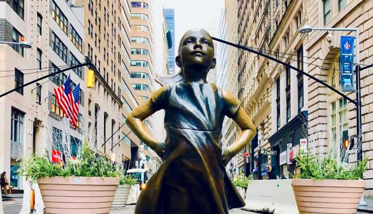 New York City Running Tour, Bridges and Financial District  Little Girl