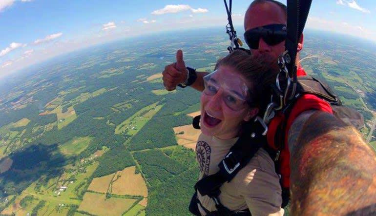 Skydive D.C., Weekend - 10,000ft Jump Views