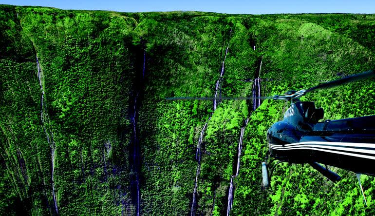 Helicopter Tour Big Island Hamakua Waterfalls