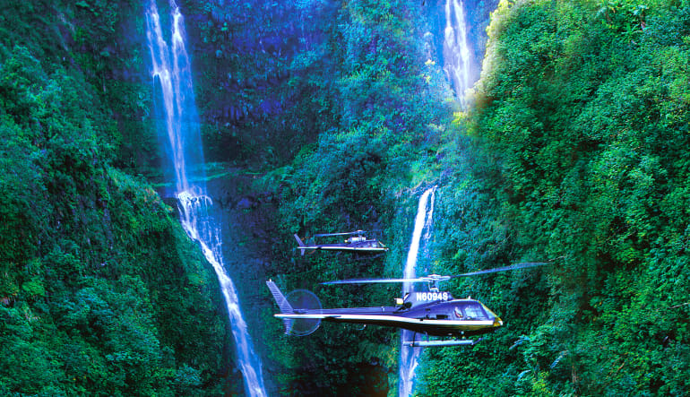 Helicopter Tour Maui, Hana and Haleakala Crater Waterfalls