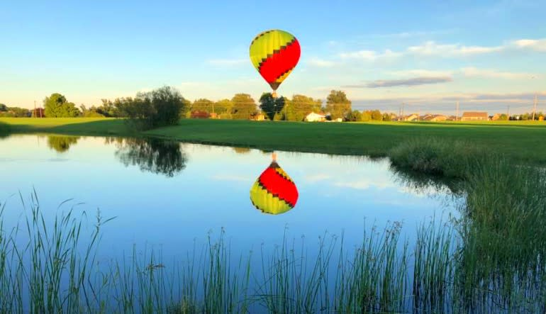 Hot Air Balloon Ride Indianapolis, Private Basket for 4 Reflection
