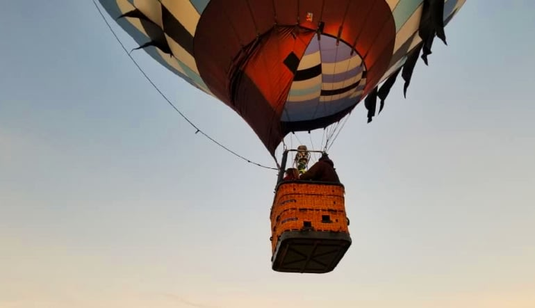 Hot Air Balloon Ride Indianapolis, Private Basket for 4 Basket