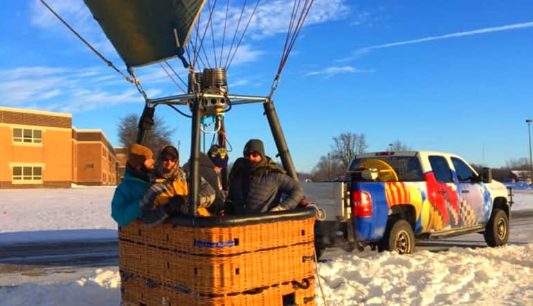 Hot Air Balloon Ride Indianapolis, Private Basket for 4