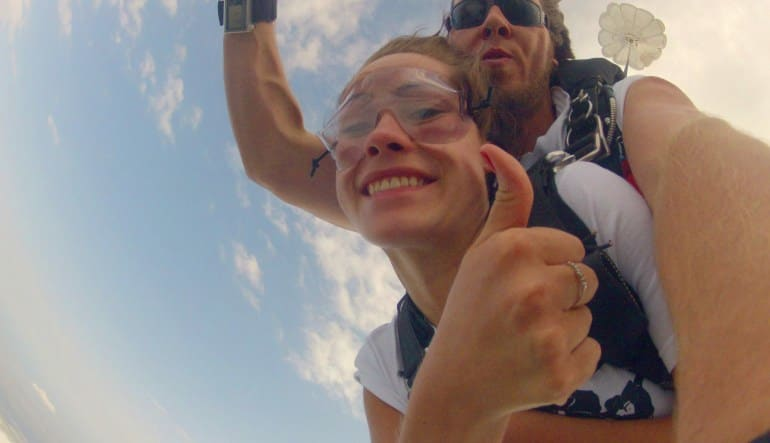 Skydiving Miami, Weekend - 10,000ft Jump Thumbs Up