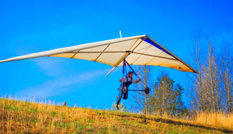 Hang Gliding Chattanooga - 1,500ft Flight Take Off