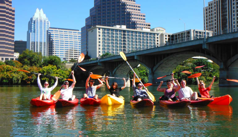 Kayak Tour Austin, Congress Ave Bridge Bat Tour Paddles