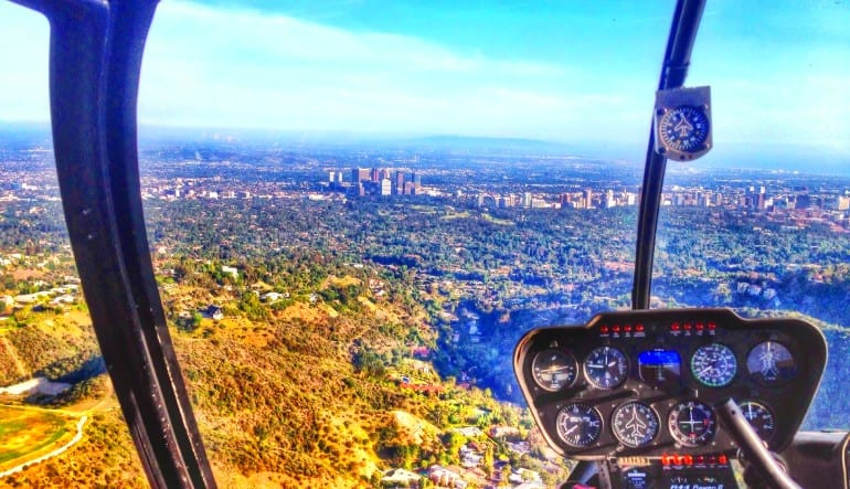 Private Helicopter Ride Los Angeles, Mountain Landing Champagne Picnic