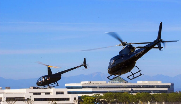 Helicopter Ride Los Angeles, Hollywood Sign Tour Aircrafts
