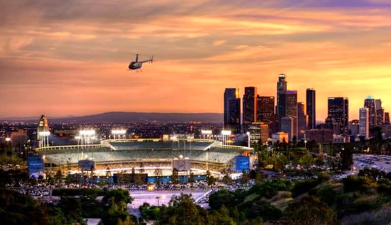 Private Helicopter Ride Los Angeles, Downtown Landing Tour Sunset