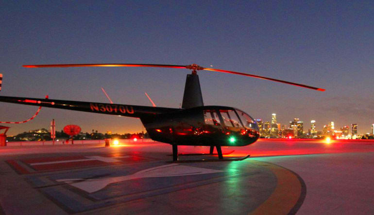 Private Helicopter Ride Los Angeles, Downtown Landing Tour Aircraft