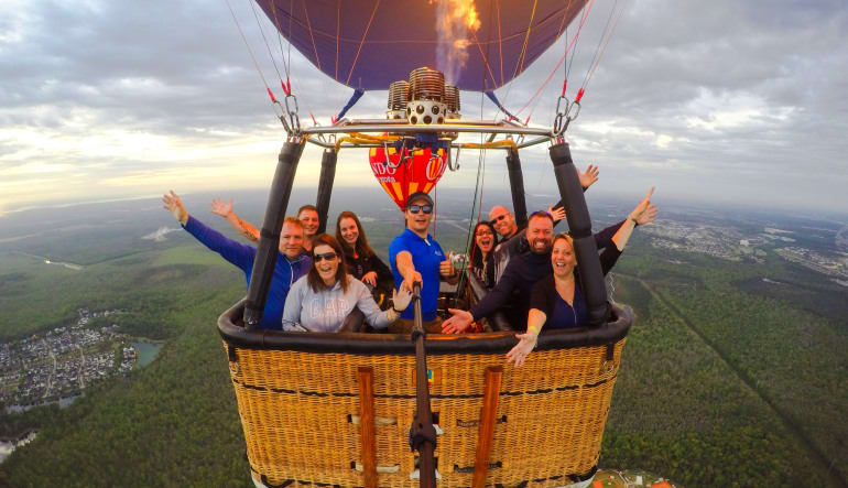 Hot Air Balloon Ride Orlando, Weekday Basket Full