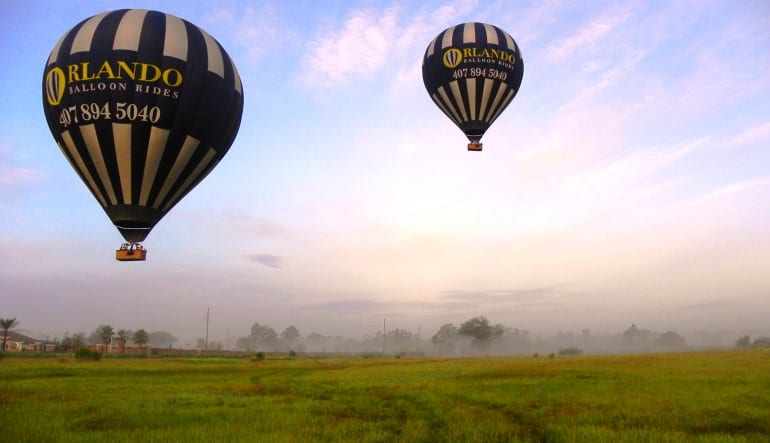 Hot Air Balloon Ride Orlando Weekday Flights