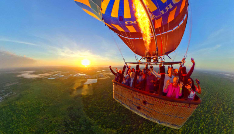 Hot Air Balloon Ride Orlando, Weekend Basket Full