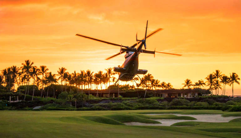 Helicopter Tour Big Island, Kona Sunset Experience - 2 Hours 4 Seasons