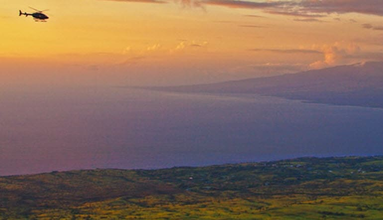 Helicopter Tour Big Island, Kona Sunset Experience Dusk