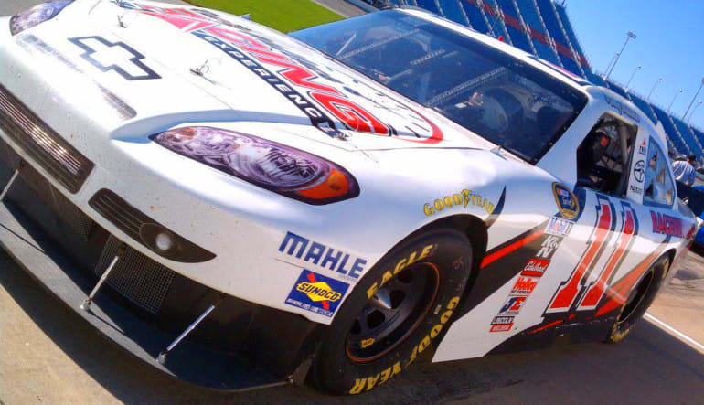 Rusty Wallace Stockcar Drive White Car