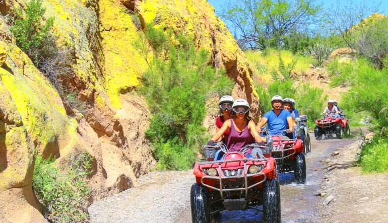 ATV Sedona Canyon Guided Tour Action
