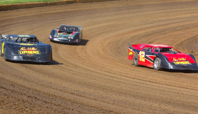 Dirt Track Racing In Action