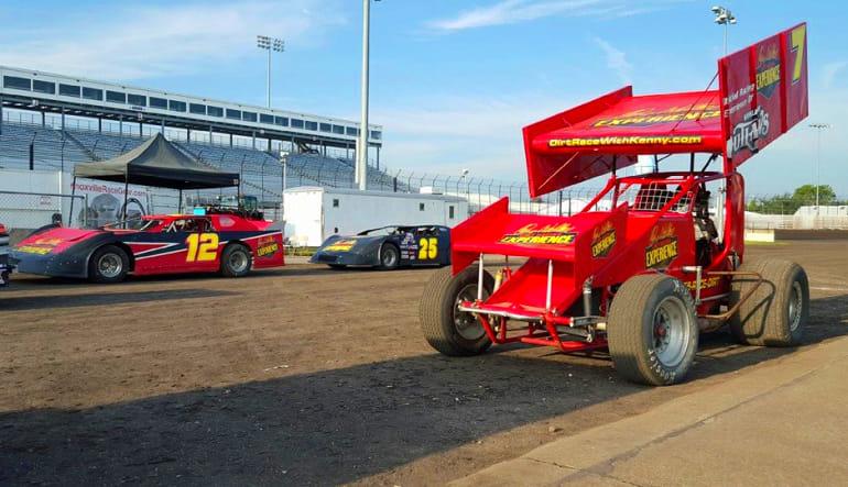 Dirt Track Racing Start Line