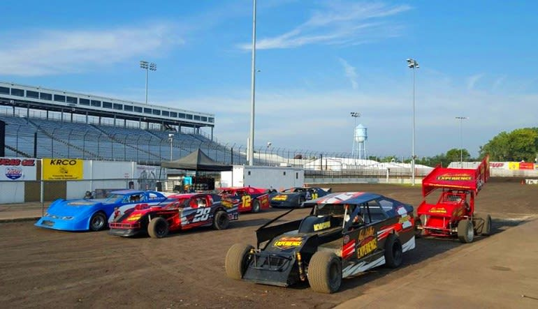 Dirt Track Racing Lined Up Ready