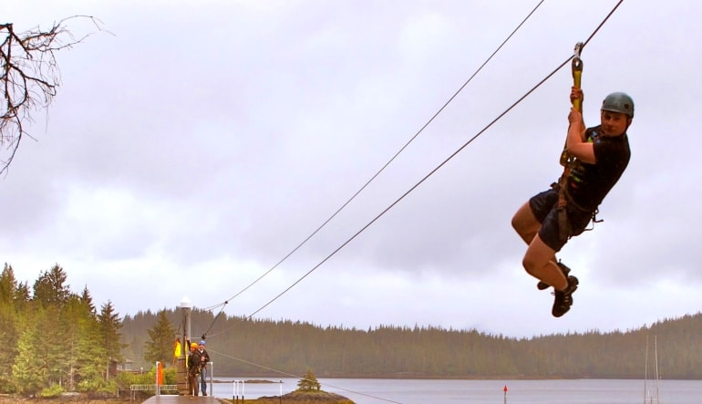 Ketchikan Zipline Adventures, Tongass National Forest Man