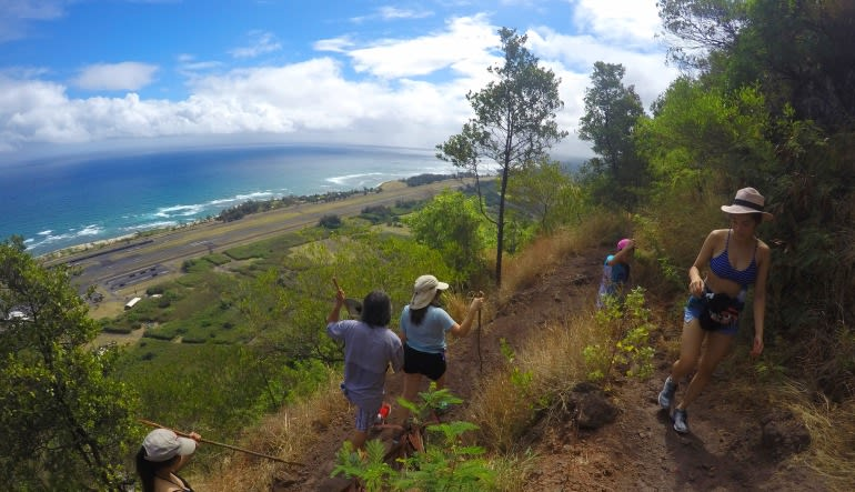 Intermediate Guided Hike Oahu En Route