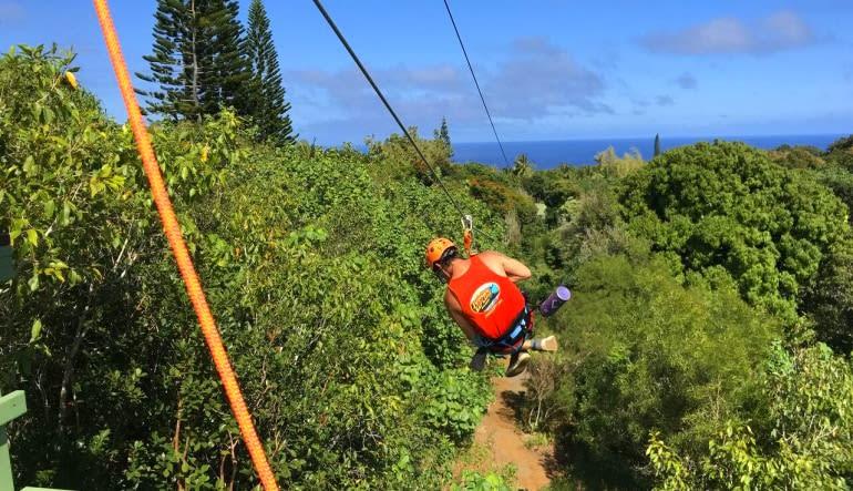 Zipline Maui, 7 Lines Zipping