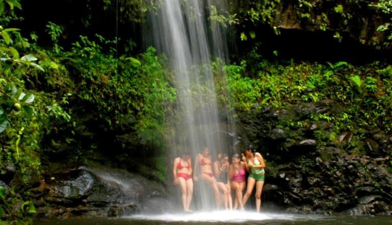 Waterfall Hike and Zipline Tour Maui  Swim