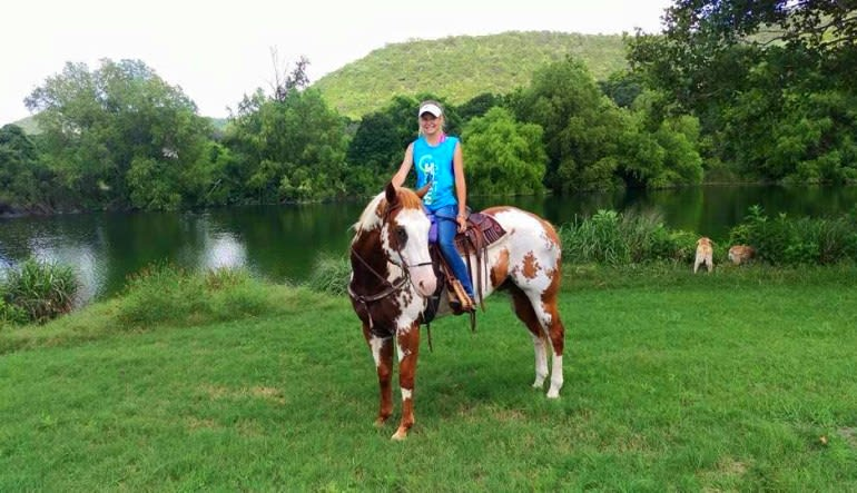 Horseback Riding San Antonio, Texas Hill Country Painted Horse