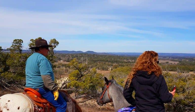 Horseback Riding San Antonio, Texas Hill Country Couple